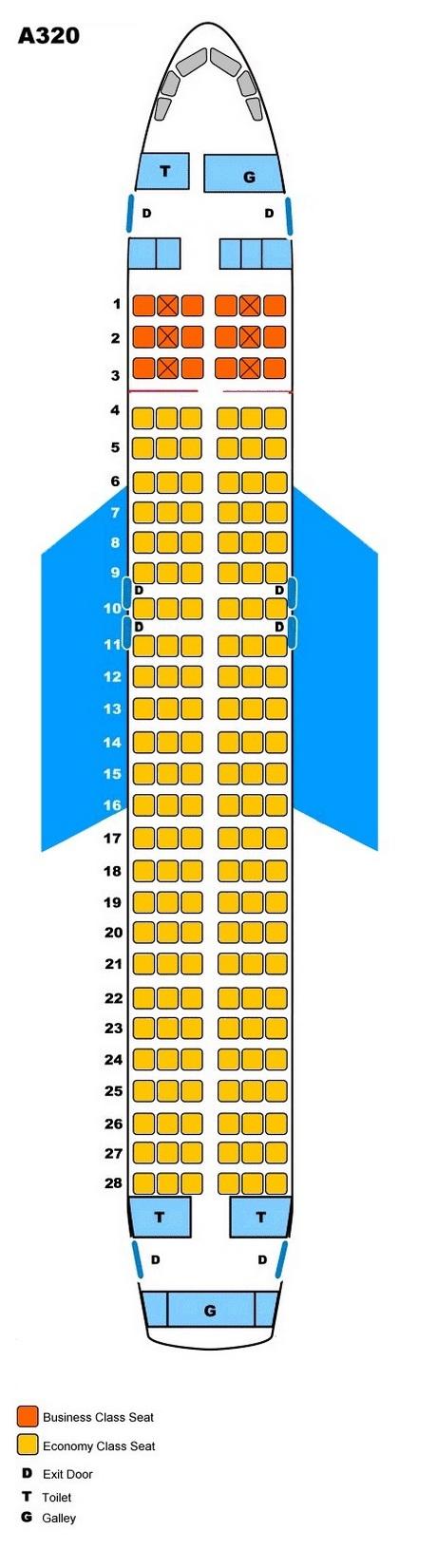 Схема салона самолёта Аэробус